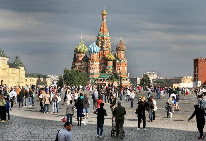 Die Basilius-Kathedrale auf dem Roten Platz in Moskau