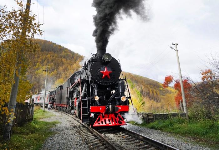 Alte Dampflock auf der Circum-Baikal-Trasse