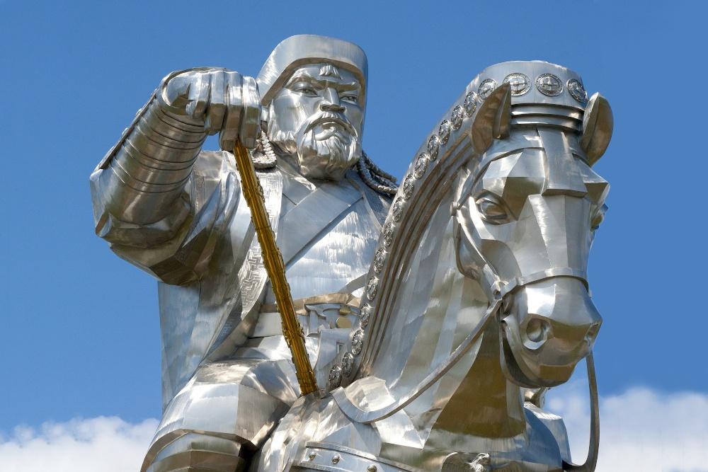 Dschighis Khan Statue bei Ulan Bator in der Mongolei
