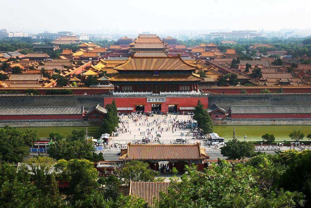 Die Verbotene Stadt in Peking von oben