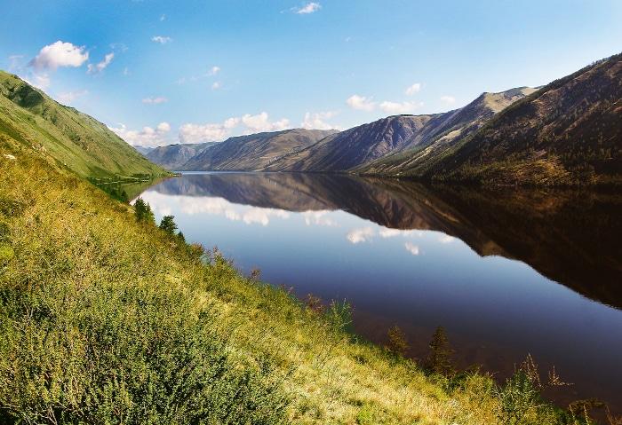 Kara Khol See in Tuwa, Russland