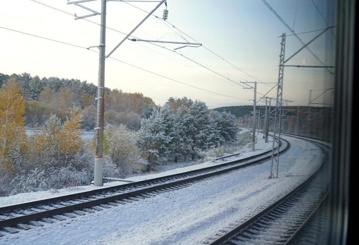 Die Transsibirische Eisenbahn im Winter