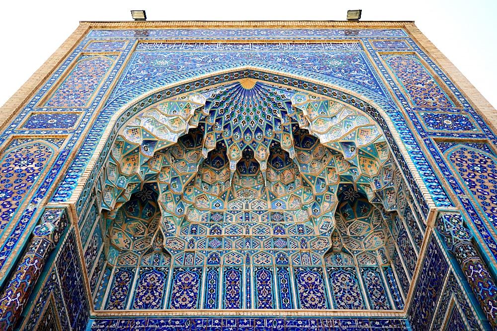 Majolika Fassade eines Mausoleum in Samarkand