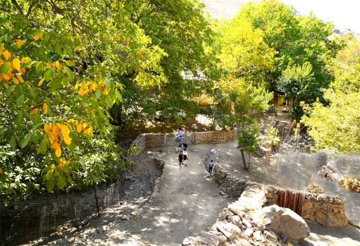 Dorf in den Bergen in Usbekistan